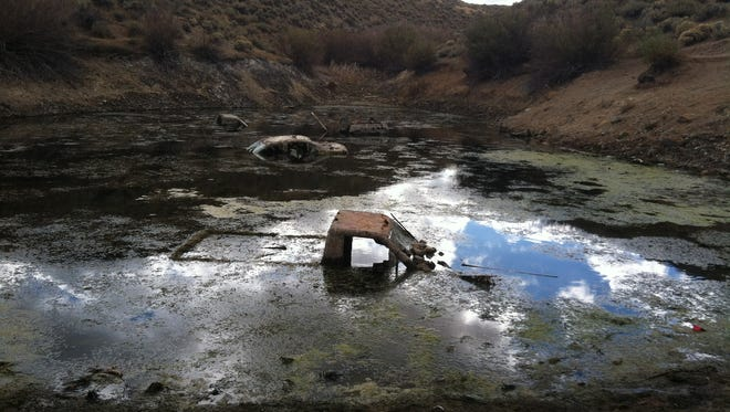 The Washoe County Sheriff's Office will use volunteers to clean abandoned cars from Kiowa Pond.