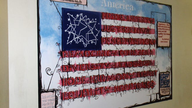 A mural featured at Desert Springs Middle School.