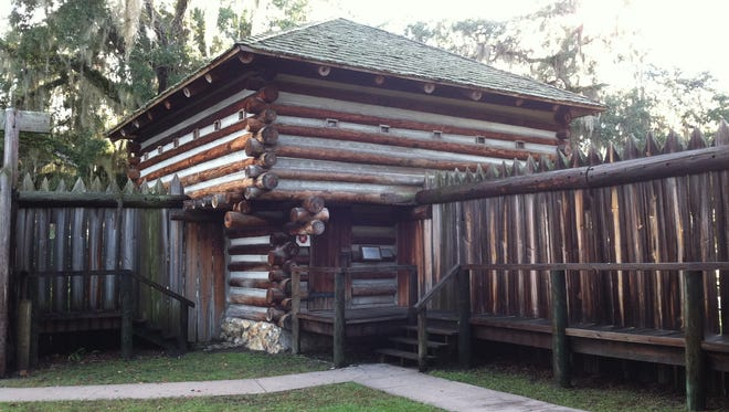 Fort Christmas was constructed in 1837 during the Second Seminole Indian War. This replica was built in 1977.