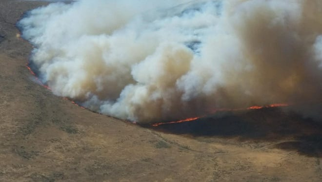 The Cherry Road Fire burned this summer in southeastern Oregon, near the border with Idaho.