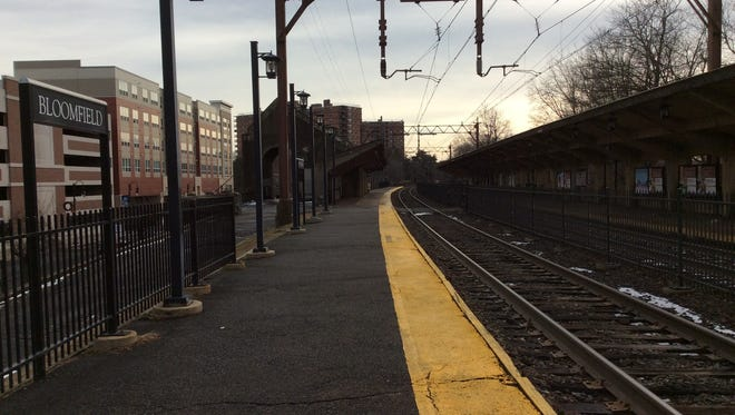 The outbound platform of the Bloomfield Train Station is seen here on Wednesday, Jan. 11. The township seeks to start a long-needed reconstruction of the station this year.