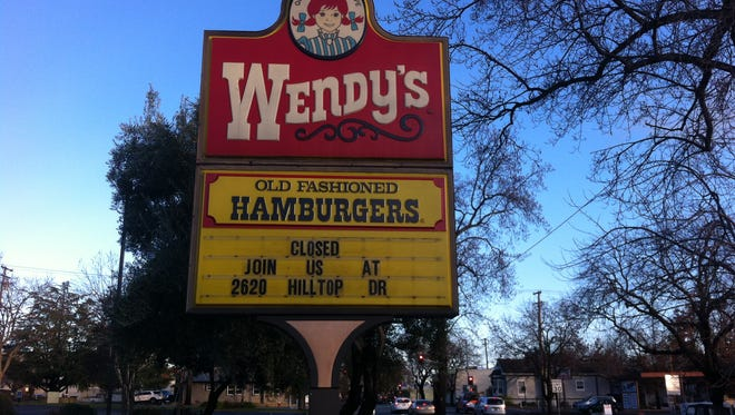 The Wendy's on Pine Street in downtown has closed. It opened in 1985.