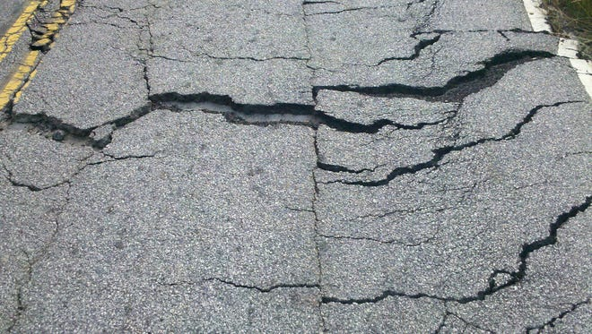 Conditions of a road in Spartanburg County, photographged by William Meyer of Moore, a former Spartanburg County deputy