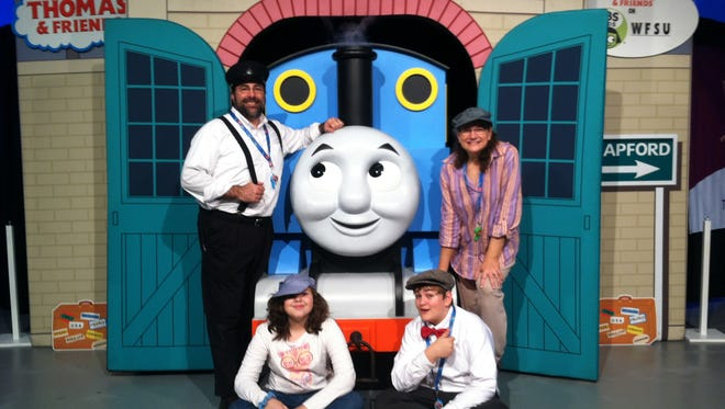 The Weinstein Family at our Family-Friendly Thomas the Train Community Event hosted by WFSU.