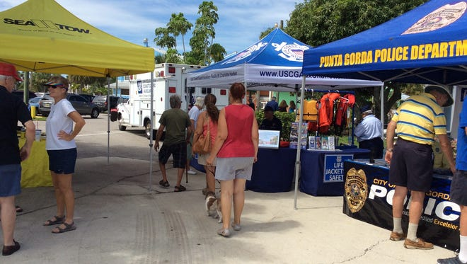 Besides boat trips on Charlotte Harbor, National Marine Day at Fisherman's Village Marina also features informational booths and activities on boating.