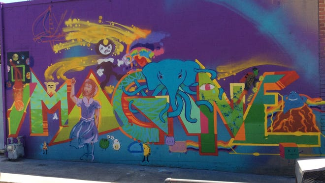 A mural painted by Young at Art students