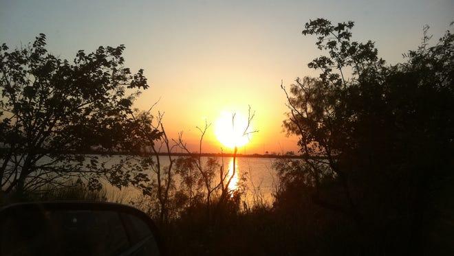 Kirby Lake at sunset