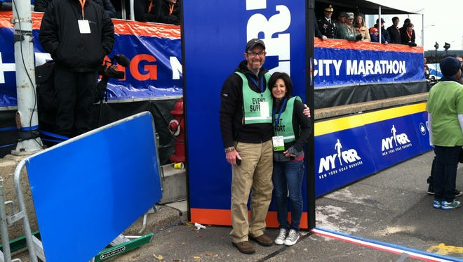 Members of the Raritan Valley Roadrunners, Lisa Iorillo, 54, of Sayreville, and Jim Sellar, 58, of Hillsborough, will take to the starting line in an effort to fundraise for The Calliope Joy Foundation as part of Team Cupcake. Iorillo and Sellar were running in the Boston Marathon in 2013 when bombs exploded at the finish line. In 2016, they ran the New York City Marathon together.