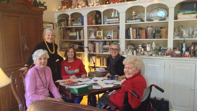 From left: (seated) Carolyn Jacoby, Fran Fenton, Kelly Gordon and Barbara Barre, (standing) Heather Ross, chair of Senior and Social Services Outreach.