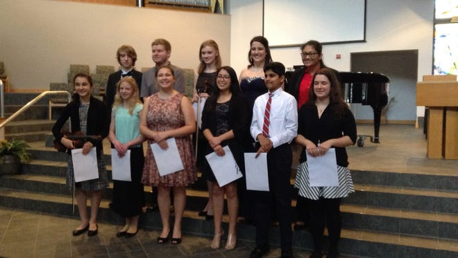 Winners who attended last year's Musicale Competition.