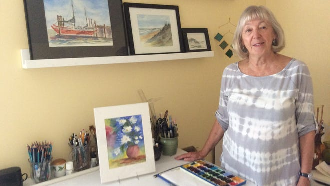 Lenora Gentry of Ocean View paints a variety of subjects using watercolors and inks.
