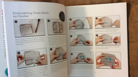 The book has well-illustrated step-by-step instructions