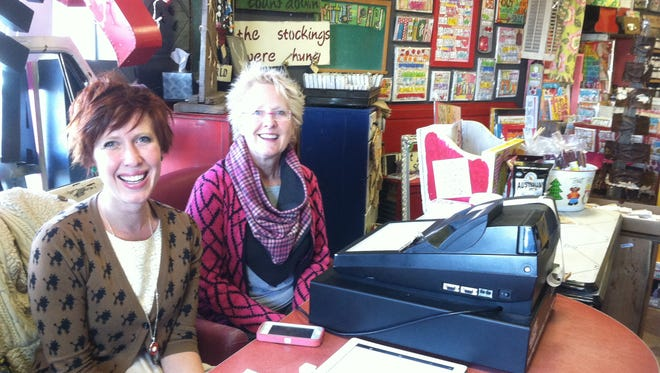 Art Moms Boutique opened today in a strip mall near Olive Garden. Owners are Chantel Olson and Pennie Ogden.