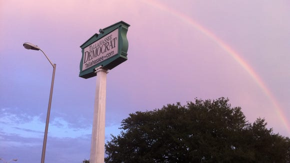 A rainbow over the Tallahassee Democrat