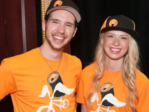 Volunteers Robert Nellis and Haley Gibbs at the 2015