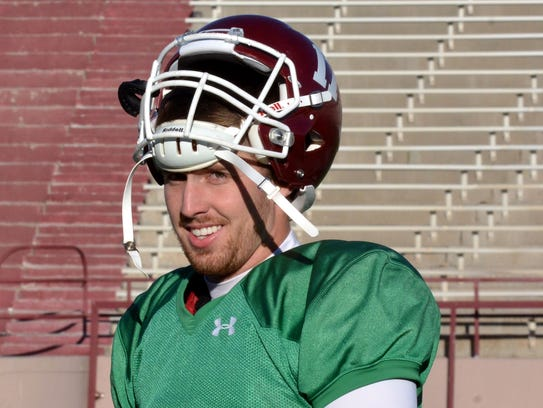 New Mexico State quarterback Tyler Rogers and the Aggies
