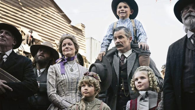 "Anna Gunn and Timothy Olyphant play a couple who've persevered through tough times in ""Deadwood: The Movie."""