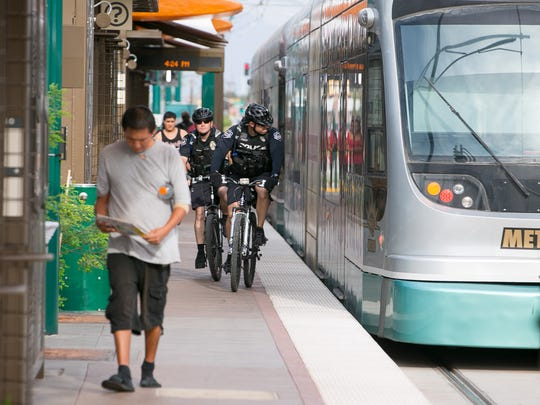 After three years of construction cycles marked by traffic detours, parking dilemmas and dust, light rail arrived in downtown Mesa on Aug. 22. The $200 million, 3.1-mile Central Mesa extension, which added four stations and a park-and-ride to the line, was completed seven months ahead of schedule and kicked off a flurry of downtown events and activity.
