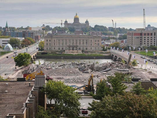 Monday morning look at the former site of the downtown