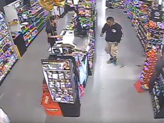 Horizon City Police Department officials are seeking a man accused of robbing a Dollar General store.