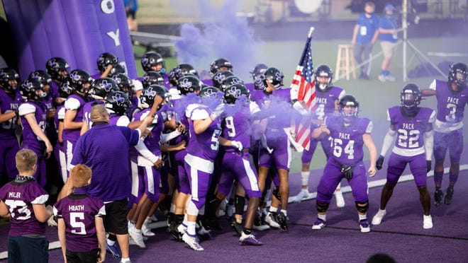 The Anna High School Coyotes football team takes the field for the Sept. 11 homecoming game at Coyote Stadium and went on to defeat the Van Alstyne Panthers during the non-conference match up, which ended with a score of 38-36.