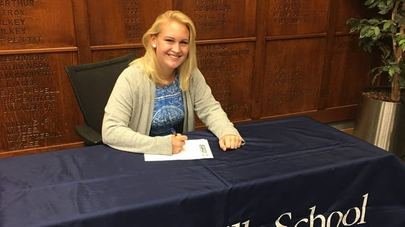 Asheville School senior Christina Pyfrom has committed to swim in college for Centre (Ky.).