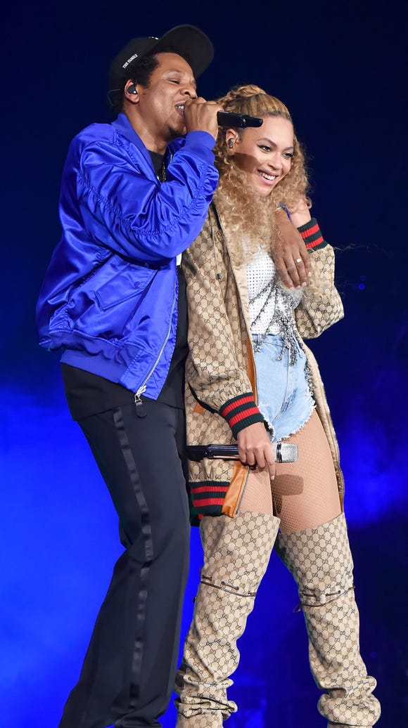 CARDIFF, WALES - JUNE 06:  Jay-Z (L) and Beyonce Knowles