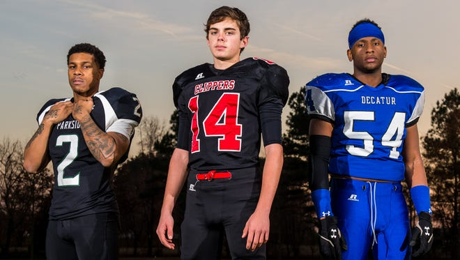 After tremendous 2015 campaigns, Parkside running back Tra'jon Branch, James M Bennett kicker Steve Oscar and Stephen Decatur linebacker Ernest Shockley are The Daily Times' players of the year.