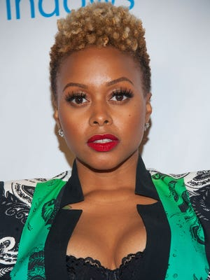 Chrisette Michele arrives at the Universal Music Group 2014 Post GRAMMY Party at The Ace Hotel Theater on January 26, 2014 in Los Angeles, California.
