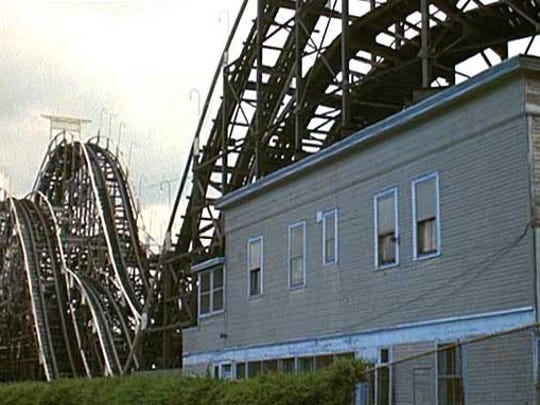 "Much larger than the Coleman/Pippin house was this actual Coney Island roller coaster home, as seen here in the movie ""Annie Hall."""