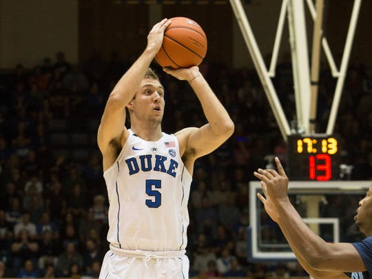 Duke's Luke Kennard was selected 12th by the Pistons in the 2017 NBA draft.