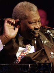 Blues legend B.B. King performs at his club on Beale Street in 2004.