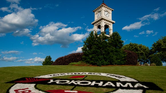 Signage promoting the Yokohama Tire LPGA Classic at