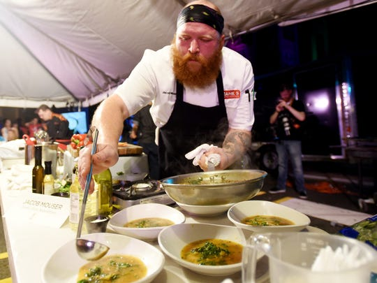 Chef Jacob Mouser of Frank's Pizza Napoletana at the 2017 Battle for the Golden Fork.