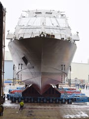 The future USS Sioux City is set to be launched Saturday at Fincantieri Marinette Marine Corp.