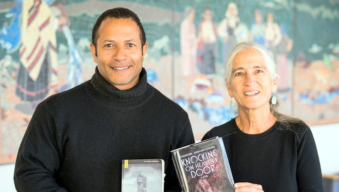 JJ Amaworo Wilson, left, and Sharman Apt Russell were recognized for their writing by the New Mexico Book Co-Op.