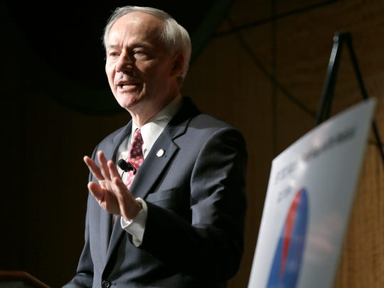 A spokesperson for Gov. Asa Hutchinson declined to comment on pending firearms legislation before state legislators.