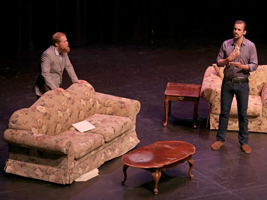 """The cast of the Neil Simon Festival's production of """"Chapter Two"""" performs a scene from the play during a June 30 preview night at the Heritage Center Theater in Cedar City."""