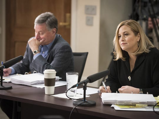 Mayor Megan Barry, right, and chief operating officer
