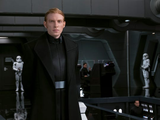The First Order's General Hux (Domhnall Gleeson) is