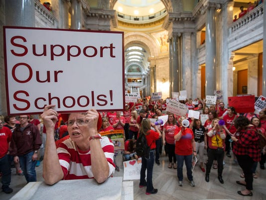041318 kentucky teachers rally