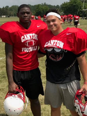 Noah Brown (left) and Lou Baechler will be leading the 2017 Chiefs on and off the football field.