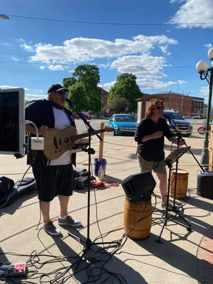 The Shubies performed Friday at Market Alley Wines as the city approved temporary outdoor seating permits for bars and restaurants amid the coronavirus pandemic.