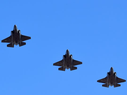 A formation of U.S. and Norwegian F-35 Lightning II
