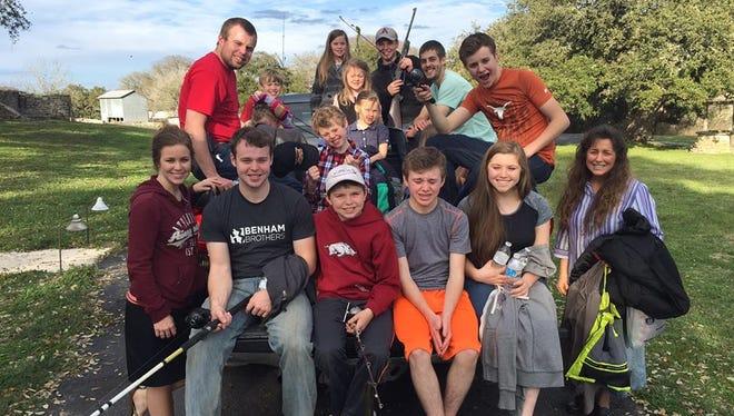The Duggar family on a trip outdoors.