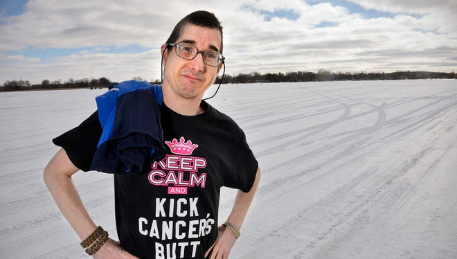 Jim Roush did the Polar Plunge at Pleasant Lake last year to benefit Special Olympics. The next day, he was coughing up blood and soon found out he had lung and liver cancer. After a year of chemotherapy, he's taking the plunge again Saturday, Feb. 20, 2016.