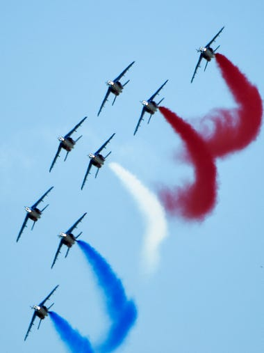 Patrouille De France performs in the USA for the first