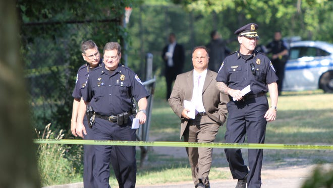 Rochester police investigate La Grange Park after a burned body was found Wednesday morning.