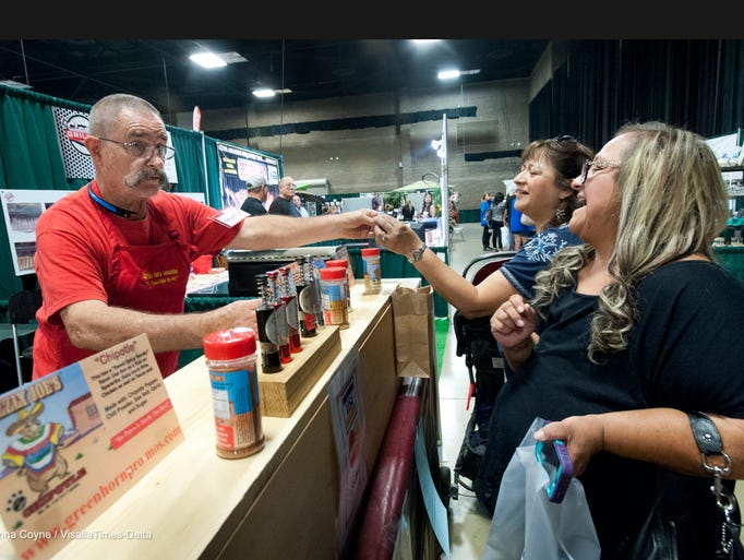 Gary Martin of Grizzly Joe's gives out tastes of his