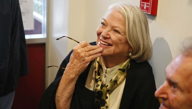"""Louise Fletcher, who won an Academy Award for her portrayal of Nurse Ratched in """"One Flew Over the Cuckoo's Nest"""" attends the grand opening of the Oregon State Hospital Museum of Mental Health on Oct. 6, 2012."""